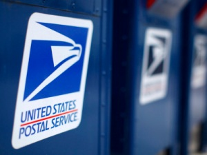 Image: A view shows U.S. postal service mail boxes at a post office in Encinitas